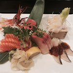 A sashimi plate made with love by Jack
