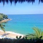 Vista de la playa desde la recepción!!