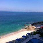 Vista de la playa desde la recepción !!!