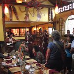 Party at Tin Jo Restaurant with Mariachis contracted by customer, May 2012
