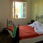 My beautiful bedroom at the Aegean Village!