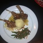 Rack of lamb with marmalade mint sauce