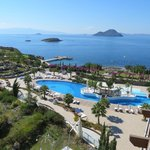 View of pool and Aegean