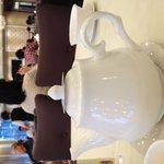 Nice restaurant. Nice teapot!