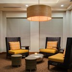 Oversized, comfortable lobby seating
