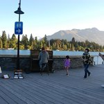 Busker who wheels his piano down and plays on the waterfront - magical!