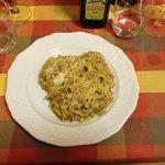 Gluten free pasta with wild boar
