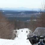 Snowmobile trail from the lodge