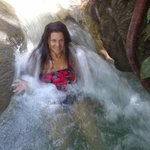 sitting in the waterfall