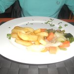 chips and veg