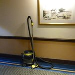 vacuum cleaner a feature in all the hallways...