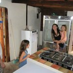The lovely owners of Pan de Vida Granada, sharing some insight on setting up the kitchen.
