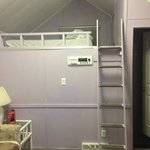 Loft area....lavender walls