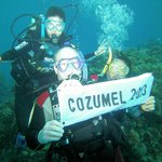 COZUMEL 2013 with the banner