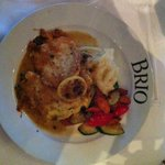 Mezza Chicken Limone Traditional Piccata style with white wine, lemon and capers.