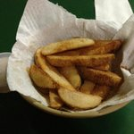 Seasoned fries with ranch dressing