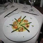 Shrimp dish from specials menu