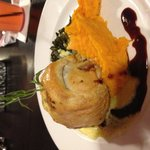 Venison Wellington with Mashed Butternut Squash. Insane.