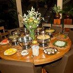 Christmas dinner prepare by Dewa