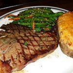 T-Bone and twice baked potatoes