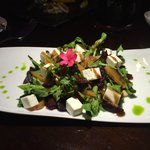 Beetroot goat cheese salad