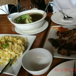 Crab Fried Rice and BBQ Chicken