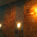 The Wooden Wine Boxes on the Walls