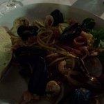 Wonderful seafood linguine