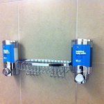 Dispensers in the shower