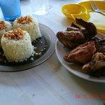 Garlic Rice and BBQ Chicken