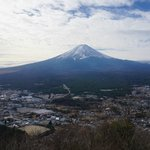 View of Mt. Fuji from up of the hill via taking the cable car