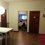 Small living hall outside the quadrupled room