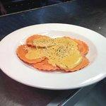 Fall Special:  Butternut Squash Ravioli in a Pumpkin Alfredo Sauce.