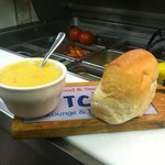 Homemade soups & Fresh baked bread.