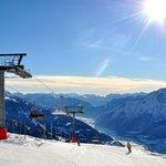 Das Skigebiet hat nur 37km Pisten, bietet aber traumhafte Aussichten.