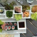 Great beach club food