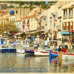 THe harbor at Cassis