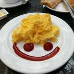 Even our breakfast came with a smile at the Salil Hotel