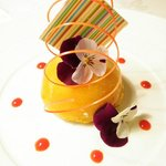 thyme and lemon iced mousse