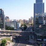 View from rour oom at the Radisson Santiago