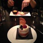 Dessert was Champagne Trifle