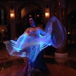Beautiful new style of belly dancing with lights at Al Khayal