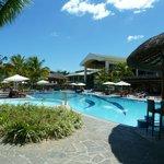 Pool area and Main Reception Area