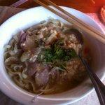 shan noodles in coconut soup