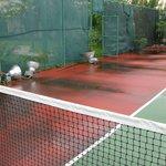 terrain de tennis pratiquement à l'abandon...