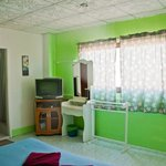 double room with king size bed with private bathroom, aircon and TV/DVD