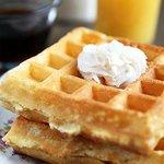 Yummy Belgian waffles for breakfast