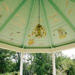 Painted ceiling in the gazebo