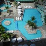 Vista da suite piscina