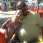 meu filho sergio e minha neta